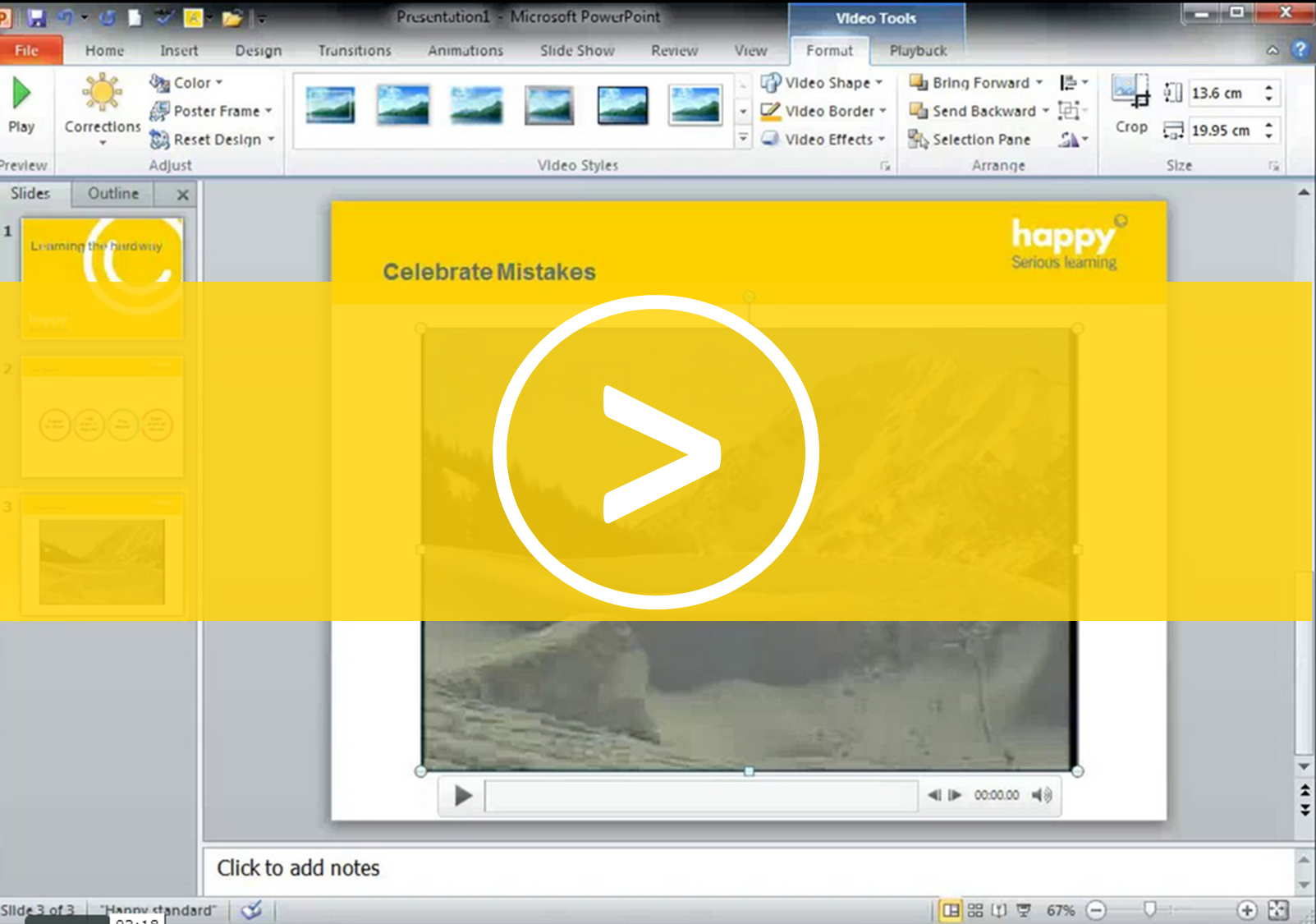Editing Video in PowerPoint