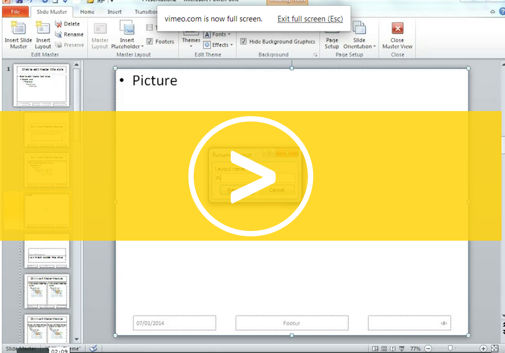 Creating a Layout in PowerPoint
